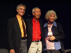 Haven Co-founders and Maria Gomori during an event